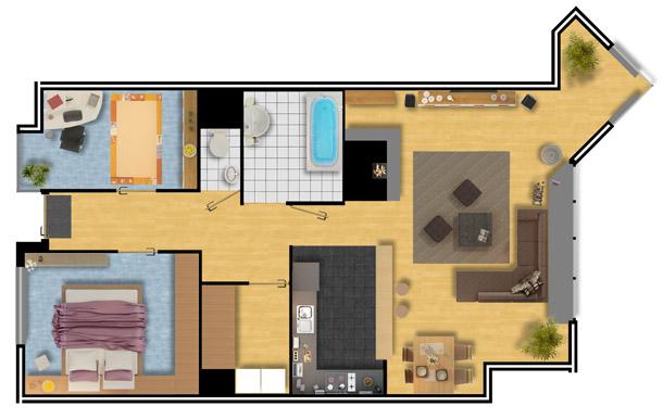 Slaapkamer inrichten plattegrond for Woonkamer planner